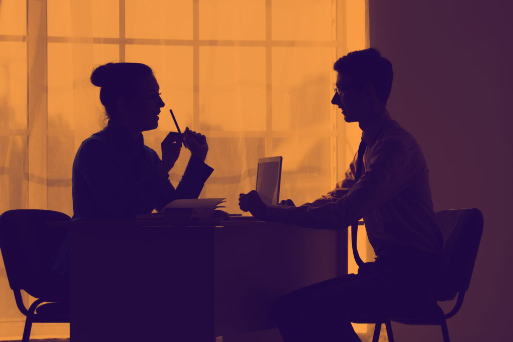 Employer interviewing potential employee